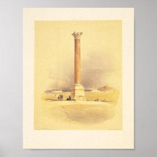 Pompeyの柱。 アレキサンドリア ポスター