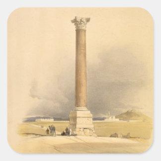 """Pompeyの柱、""""エジプトおよびNubiaからのアレキサンドリア、 スクエアシール"""