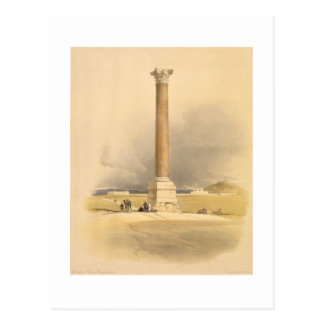 """Pompeyの柱、""""エジプトおよびNubiaからのアレキサンドリア、 ポストカード"""
