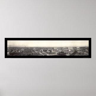 Ponca都市、オクラホマの写真1928年 ポスター