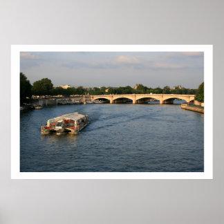 Pont de laコンコルドのBatobus ポスター