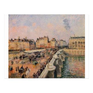 Pont Neufのカミーユ・ピサロ著午後 ポストカード