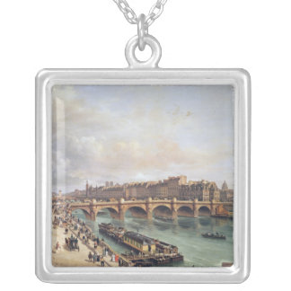 Pont Neuf 1832年の眺め シルバープレートネックレス