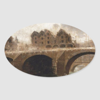 Pont Notre Dameの家の破壊 楕円形シール