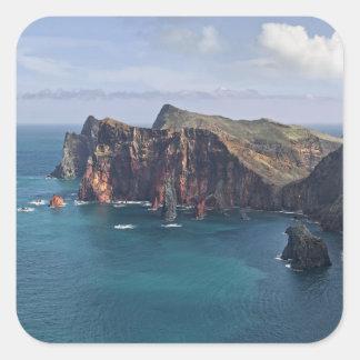 Ponta de Saoo Lourencoo、マデイラ、ポルトガル スクエアシール