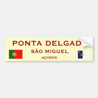 Ponta Delgadaのバンパーステッカー バンパーステッカー