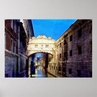 Ponteのdei Sospiri、Venezia ポスター
