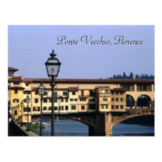 Ponte Vecchioのフィレンツェ|の郵便はがき ポストカード