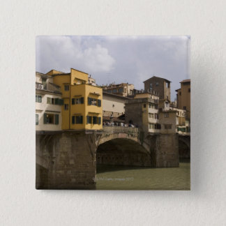 Ponte Vecchioフィレンツェイタリア2 5.1cm 正方形バッジ