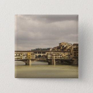 Ponte Vecchioフィレンツェイタリア 5.1cm 正方形バッジ