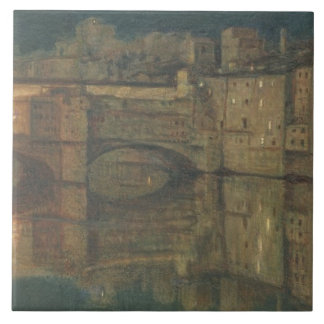 Ponte Vecchio、フィレンツェ(キャンバスの油) タイル