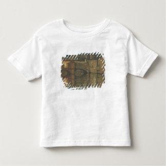 Ponte Vecchio、フィレンツェ(キャンバスの油) トドラーTシャツ