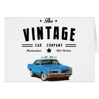 Pontiac GTO Vintage Car Company カード