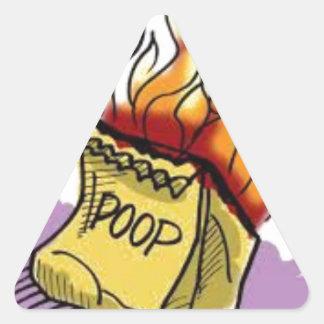 Poo燃え立つこと 三角形シール