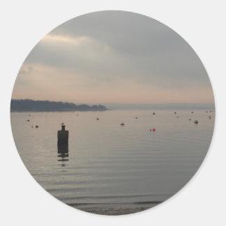 Poole港の冬の眺め ラウンドシール