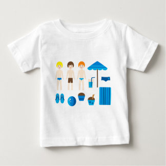 PoolPartyBoy1 ベビーTシャツ