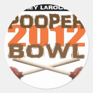 Pooperボール2012年 丸形シール・ステッカー