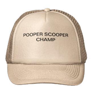 POOPER SCOOPERのチャンピオンが付いているトラック運転手の帽子はここにあります トラッカーハット