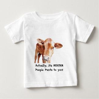Poopie Pants Cow Tee氏 ベビーTシャツ