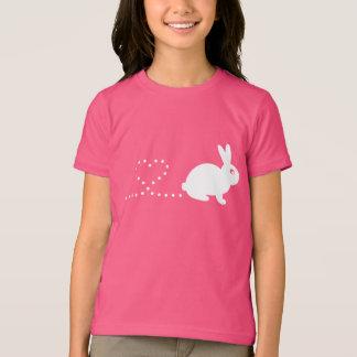 Poopingのハートのウサギの子供のTシャツ Tシャツ