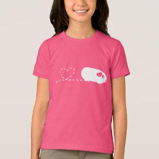 Poopingのハートのモルモットの子供のTシャツ Tシャツ