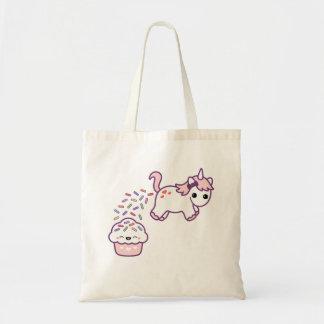 Poopingのピンクのユニコーン トートバッグ