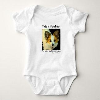 PooPooの乳児のボディスーツ ベビーボディスーツ