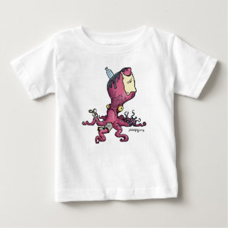 poopyタコの子供 ベビーTシャツ