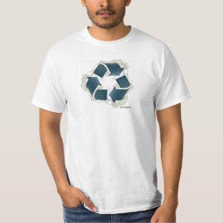 poopyリサイクルの波のTシャツ Tシャツ