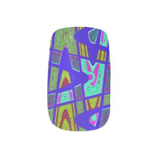 PopArtのモダンで青い抽象芸術 ネイルアート