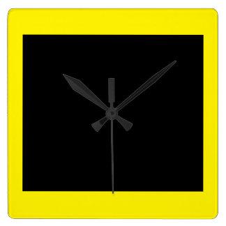 Popartの柱時計11の黄色 スクエア壁時計