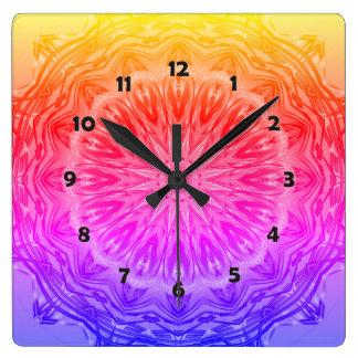 PopArt愛力の曼荼羅 スクエア壁時計