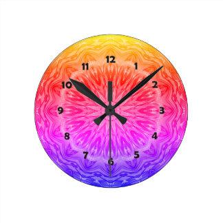 PopArt愛力の曼荼羅 ラウンド壁時計
