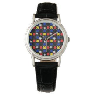 Popart 1つのプリント 腕時計