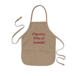 Popcord、ワインおよびスキャンダルの調理師 子供用エプロン