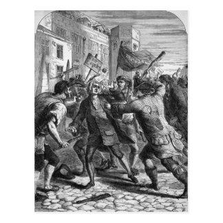 「Popery無し」の暴徒の攻撃 ポストカード