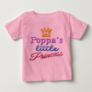 Poppaの小さいプリンセスのベビーの幼児のTシャツ ベビーTシャツ