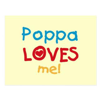 Poppaは私をTシャツおよびギフト愛します ポストカード