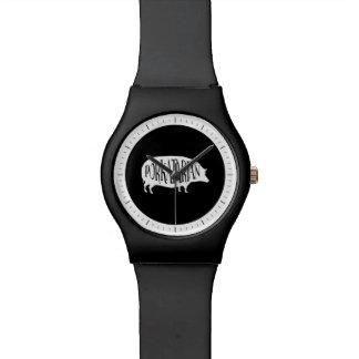PorkatarianのヴィンテージBBQのブタ 腕時計
