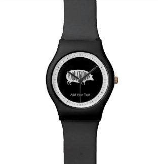 Porkatarian -おもしろいなベーコンの恋人のヴィンテージのブタ 腕時計
