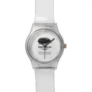 Porkatarian -私達に私達の毎日のベーコンを与えて下さい 腕時計