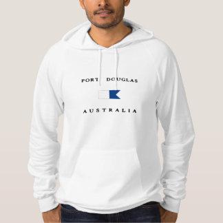 Port Douglasオーストラリアのアルファ飛び込みの旗 パーカ