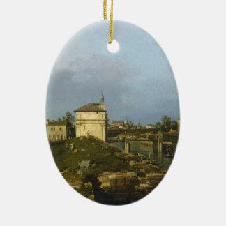 Porta Portello、Canaletto著パドゥア セラミックオーナメント