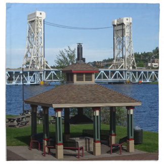 Portage湖の上昇橋 ナプキンクロス