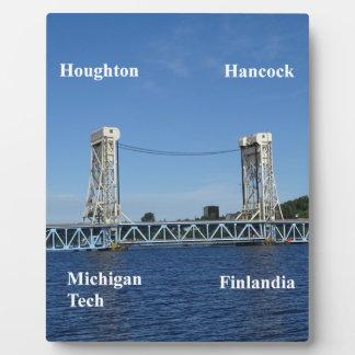 Portage湖の上昇橋 フォトプラーク