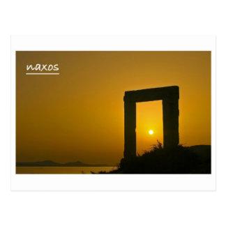Portaraのアポロ- Naxosの郵便はがきの寺院 ポストカード