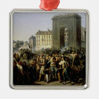 Porte聖者デニス、1830年7月28日で戦って下さい メタルオーナメント
