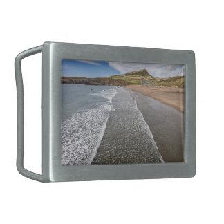 Porth Mawr Whitesands湾ウェールズ 長方形ベルトバックル