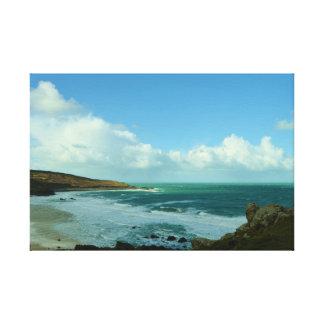 PorthmeorのビーチSt Ivesコーンウォールイギリス キャンバスプリント
