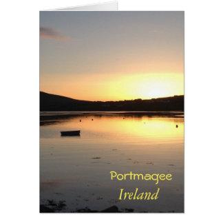 Portmageeアイルランドのアイルランドの挨拶状 カード
